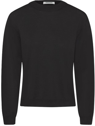 Theavant Black Round-Neck Merino Sweater