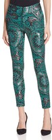 Alice + Olivia Stacey Paisley Skinny Ankle Pants