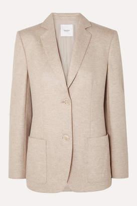 Agnona Wool And Cashmere-blend Blazer - Beige