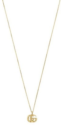 Gucci Running G Logo 18K Yellow Gold Necklace