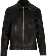 River Island Black Leather-look Jacket