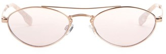 Le Specs Luxe Elliptical Liaison 55MM Browline Oval Sunglasses