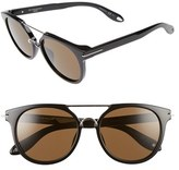 Givenchy Women's 7034/s 54Mm Round Sunglasses - Black