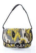 Rafe Multicolored Canvas Leather Abstract Print Convertible Shoulder Bag