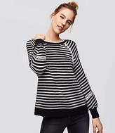 LOFT Striped Whipstitched Sweater