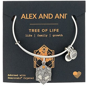 Alex and Ani Path of Symbols - Tree of Life IV Bangle (Rafaelian Silver) Bracelet