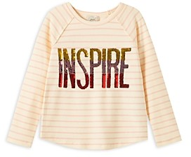 Peek Girls' Striped Inspire Top - Little Kid, Big Kid