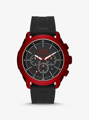 Michael Kors Oversized Kyle Red-Tone and Silicone Watch