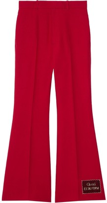 Gucci Eterotopia flared trousers
