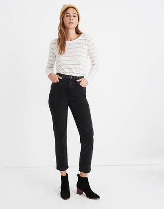 Madewell Classic Straight Jeans in Lunar Wash: Grommet Edition