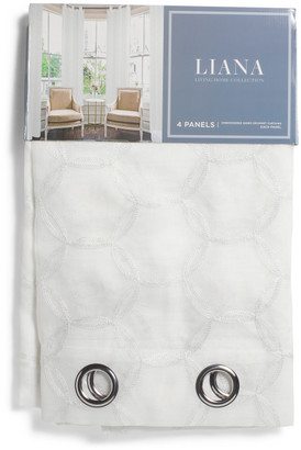 38x84 Set Of 2 Ashland Embroidered Sheer Curtains