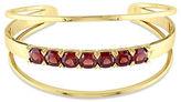 Catherine Malandrino 18K Goldplated Garnet Open Wrap Cuff Bracelet