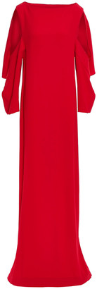Chalayan Cape-effect Cutout Draped Satin-crepe Gown