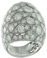 Cartier Serpentine Diamond 18k White Gold Large Dome