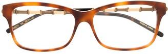 Gucci Two-Tone Square-Frame Glasses
