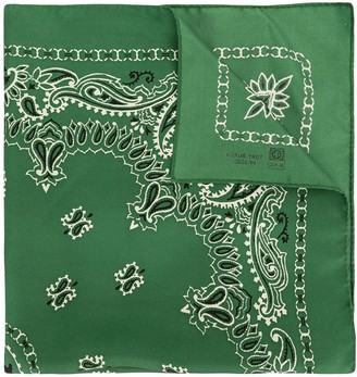 Tory Burch Bandana-embroidered silk scarf