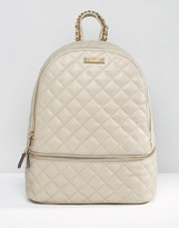 Aldo Quilted Backpack With Zip Around Pocket