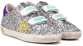 Golden Goose Kids Superstar glitter trainers