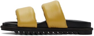 Dries Van Noten Yellow Nylon Padded Sandals
