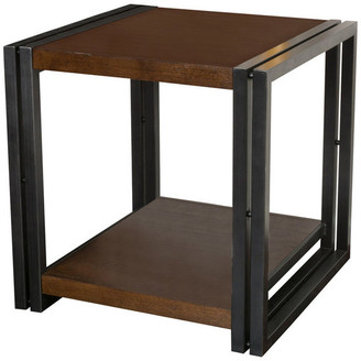 Ash Gdfstudio GDF Studio Alarand Dark Oak Veener Side Table