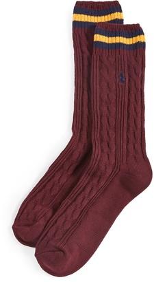 Polo Ralph Lauren Cable Crew Socks
