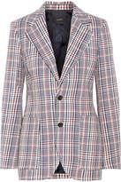 Joseph Albert Checked Cotton-tweed Blazer - Navy