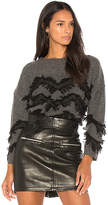 Charli Mea Frilled Sweater in Gray. - size L (also in M,S,XS)