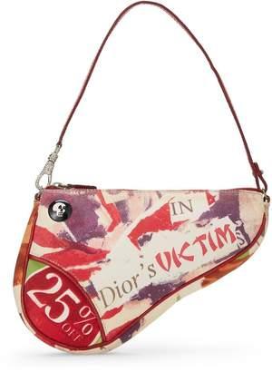 Christian Dior Multicolor Canvas Le Victim Saddle Bag Mini