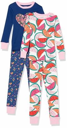 Amazon Essentials Big Boys' 4-Piece Sleeve Short Pajama Set