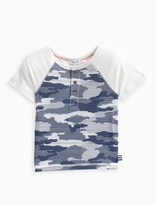 Splendid Little Boy Printed Camo Jersey Top