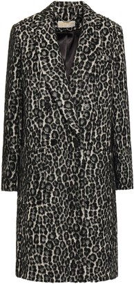 MICHAEL Michael Kors Double-breasted Brushed Leopard-print Felt Coat
