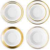 LSA International Deco Assorted Gold Soup/Pasta Bowl - Set of 4