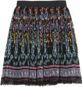 Etro Pleated printed chiffon mini skirt