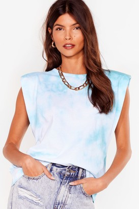 Nasty Gal Womens Into the Groove Tie Dye vest Top - Blue - 4