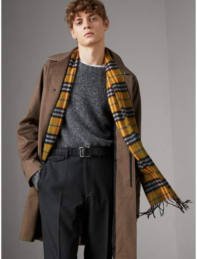 Burberry Horseferry Check and Leather Belt