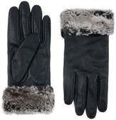 Accessorize Faux Fur Trim Leather Glove