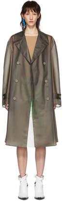 Maison Margiela Grey Matte Cover Trench Coat