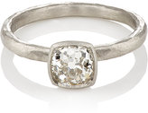 Malcolm Betts Women's Square-Faced Ring-SILVER
