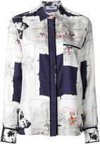 MSGM hunt print shirt - women - Silk - 42