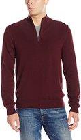 Van Heusen Men's 1/4-Zip Solid Sweater
