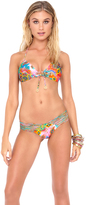 Luli Fama Boho Chic Strappy Brazilian Ruched Back in Multicolor (L44420)