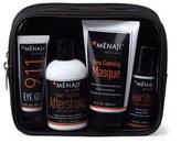 Menaji Anti Shine Powder, Concealer, Aftershave and 3 in 1 Formula Lip Agent SPF 15 David Expandable Dopp Kit