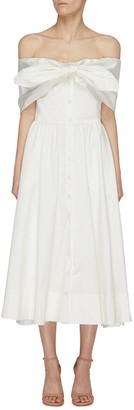 Oscar de la Renta Off shoulder day dress