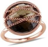 Catherine Malandrino Smokey Quartz Crisscross Ring.