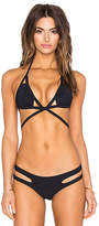 Sauvage Aurora Triangle Top in Black. - size L (also in M)