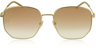 Gucci Squared-frame Gold Metal Sunglasses