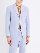 Camoshita Regular-fit cotton and silk-blend jacket