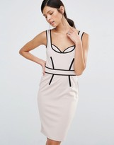 Little Mistress Pencil Dress With Contrast Piping