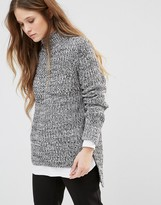 Brave Soul Ribbed Roll Neck Sweater