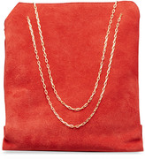 The Row Small Lunch Bag in Suede